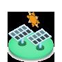 Icona Fotovoltaico Cogenerazione Trigenerazione